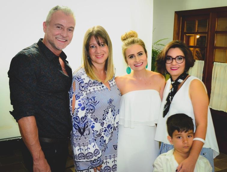 Marcelo Peluqueria, Cristiane Moreira, Carina Massoni e Eu